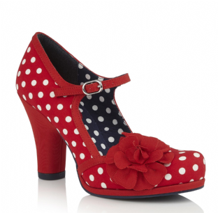 Ruby Shoo Hannah Red Spots  Womens Shoes